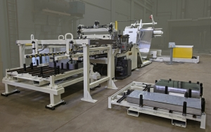 Reel Uncoiler - Threading Table - Servo feeder Straightener -.Shear Stacker system CTL Line