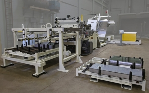 Feed line- Cut to length system- with stacker