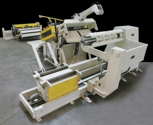 Decoiler - REEL WITH SPINDLE SUPPORT COIL CAR POWERED ROLLERS